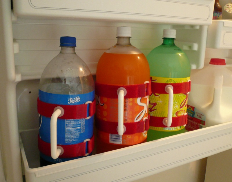 easily store soda bottles out of the fridge with Handy Pitcher