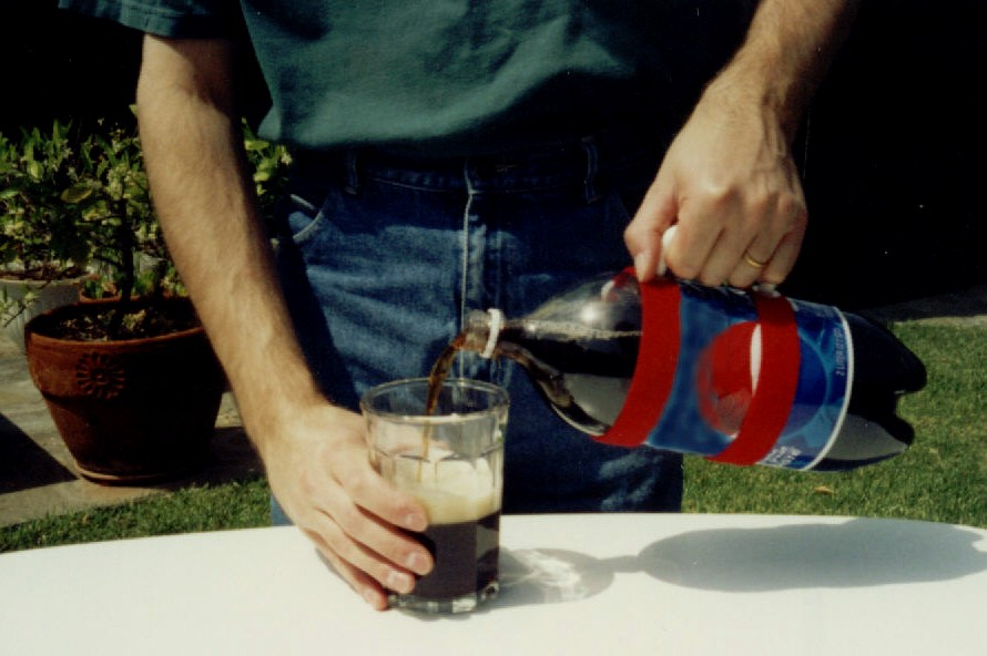 pouring a drink with HandyPitcher