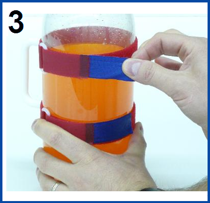HandyPitcher turns bottle into pitcher step 3